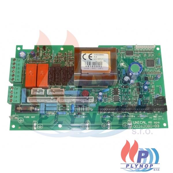 Ovládací elektronika s ohřevem vody v bojleru DAKON DUA PLUS 28 BK / BT - 1199 0006 / 87381000030 / 95000481