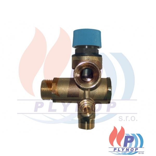 Pojistný ventil 8 bar komplet IMMERGAS AVIO MAIOR, ZEUS MAIOR - 3.018342 / 1.4391