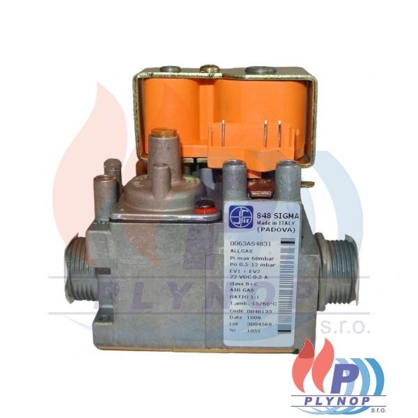 Plynový ventil SIT 848 IMMERGAS VICTRIX ZEUS SUPERIOR kW, HERCULES SOLAR 26 kW - 1.028278 / 1.028278 / 1.031823