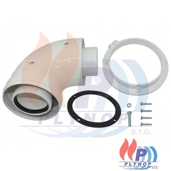 Přírubové koleno 60/100-90° - pro vodorovný odtah kotle ENBRA CD - 27086LA