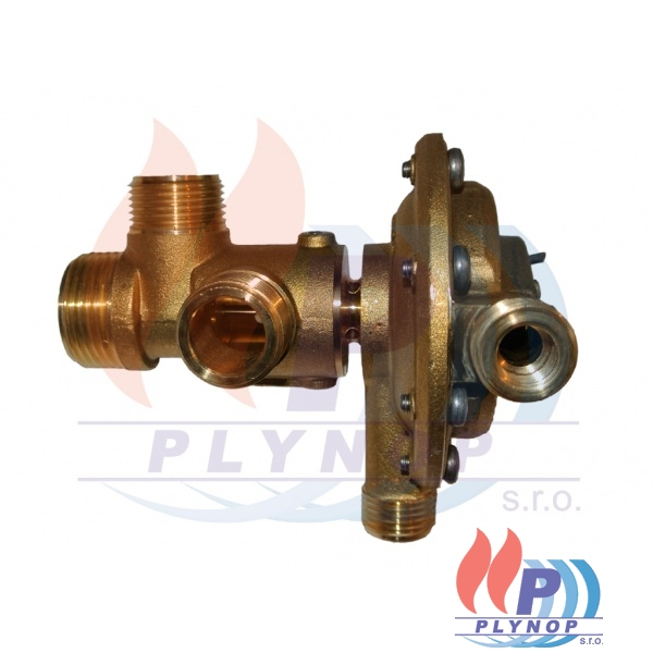 Třícestný ventil bez mikrospínače F stojatý - THERMONA - 21161