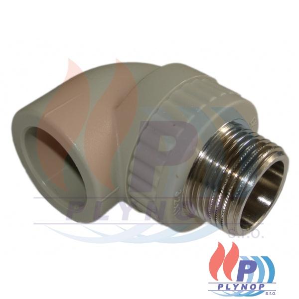 """Koleno s kovovým závitem 20x3/4"""" vnější závit WAVIN EKOPLASTIK - SKOE02025X"""