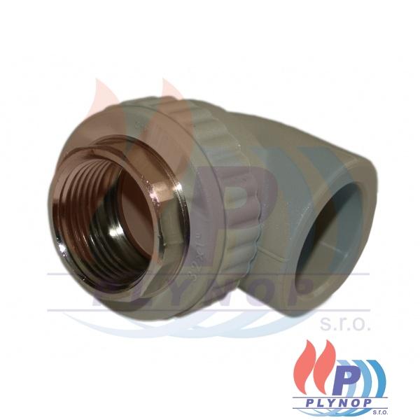 """Koleno s kovovým závitem 20x1/2"""" vnitřní závit WAVIN EKOPLASTIK - SKOI02020X"""