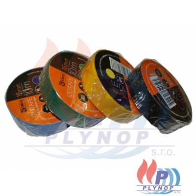 Izolační páska elektrikářská MIX barev 15mm, 10m PVC